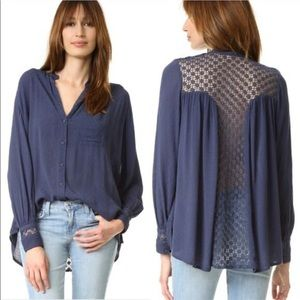 Free People The Best Button Down Blouse M